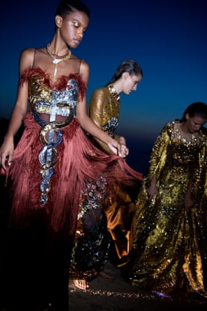 Elaborate details and beautifully constructed gowns are signatures of Mary Katrantzou's work and were explored and celebrated in this collection which marked the 11th anniversary since her brand was established in 2008.