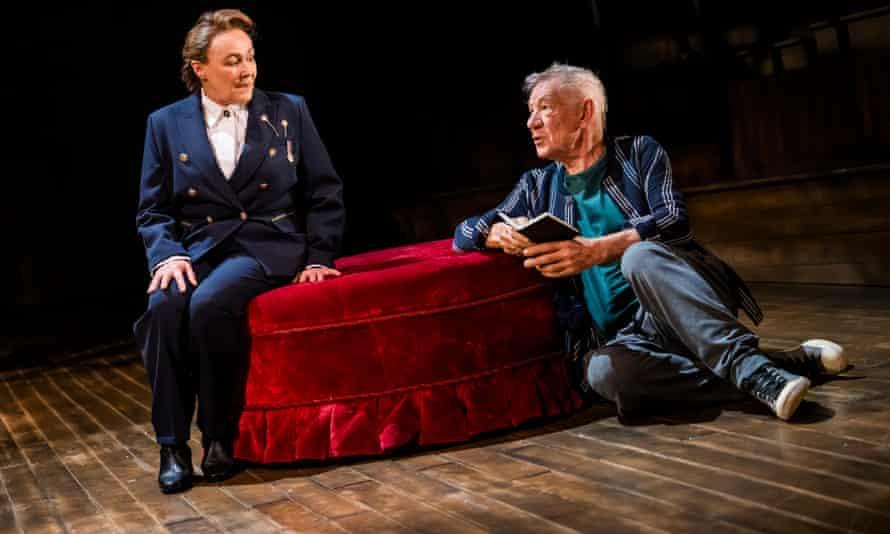 Frances Barber, left, excels as Polonius.