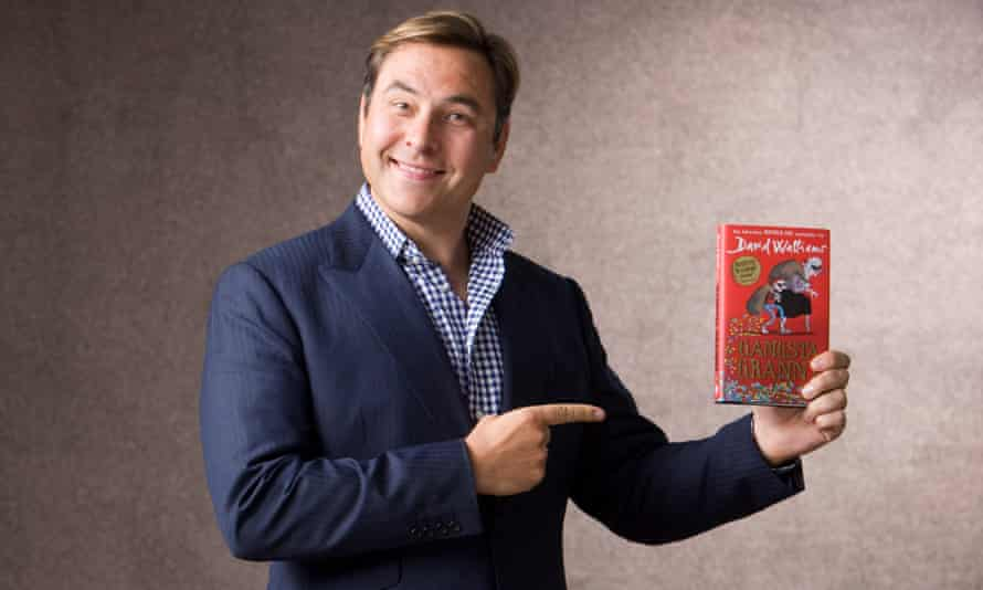 David Walliams, pictured with his book Gangsta Granny.