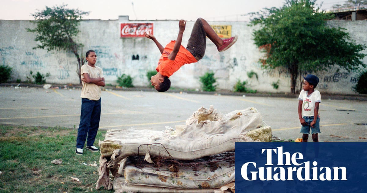 High-flying Brooklyn boys on a magical trampoline: Jamel Shabazz's best photograph