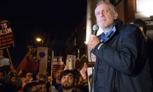 Jeremy Corbyn speaks at an anti-racism rally on Friday 4 December at Finsbury Park mosque, organised by, among others, the Stop the War Coalition