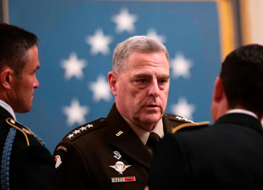 The chairman of the joint chiefs of staff, Mark Milley, is in quarantine after being in contact with a coronavirus-infected person.