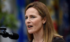 Amy Coney Barrett speaks after being nominated for a place on the supreme court