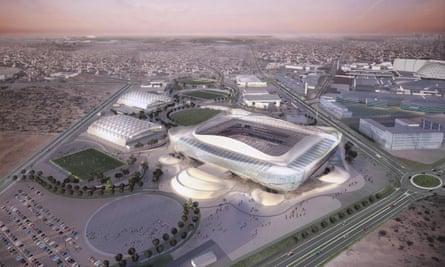 Computer generated image of the 40,000-seater Al-Rayyan Stadium in Qatar.