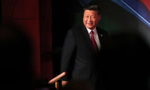 China's President Xi Jinping arrives for the Apec summit in Port Moresby