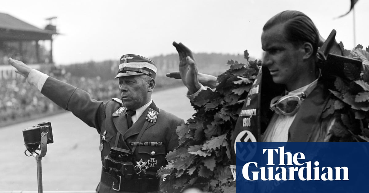 The moment Britains first great grand prix driver saluted Adolf Hitler