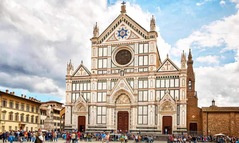 The Basilica of Santa Croce in Florence, Italy.