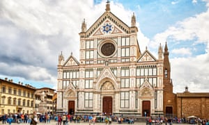 The Basilica of Santa Croce in Florence.
