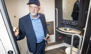 Jeremy Corbyn during his visit to the Wabtec Rail train factory in Doncaster.