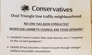Vauxhall Conservatives leaflet