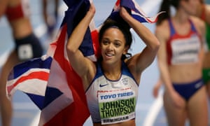 Katarina Johnson-Thompson celebrates winning gold in the World Indoors Championships at Birmingham, a victory she feels will lead to even better achievements.