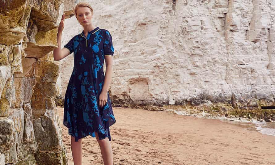 Woman wearing dress from Ted Baker's autumn/winter 2019 range