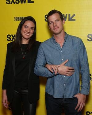 Westworld showrunners Jonathan Nolan and Lisa Joy.
