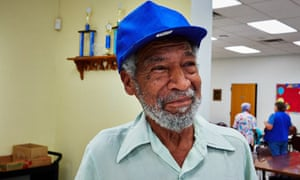 'King' James B Sanders at the Marcos de Niza Senior Center's emergency cooling facility