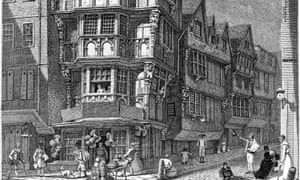 The Crooked House on the corner of Chancery Lane and Fleet Street, as illustrated by John Thomas Smith