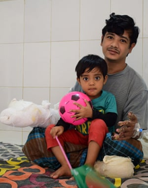 Abul Bajandar with his daughter