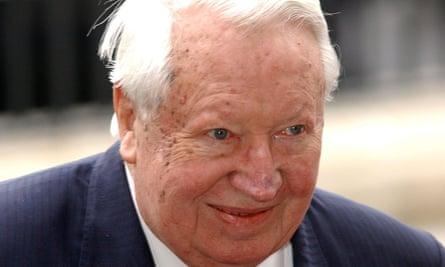 Sir Edward Heath in 2002