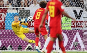 Pickford makes another save but palms the ball back into the danger area – again. Luckily for him the danger is cleared. And that's pretty much the match in a nutshell: uncomfortable but not hugely damaging.