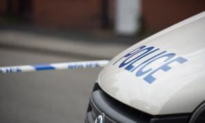 Stock image of police crime scene tape
