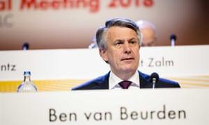 Ben van Beurden, the CEO of Royal Dutch Shell
