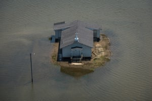 Backwater flooding surrounds Pleasant Grove Baptist Church in Issaquena County. The middle-section of the country experienced major flooding this year especially along the Missouri, Arkansas and Mississippi Rivers.