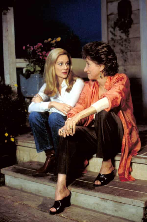 Laura Linney, left, and Olympia Dukakis in More Tales of the City, 1998.
