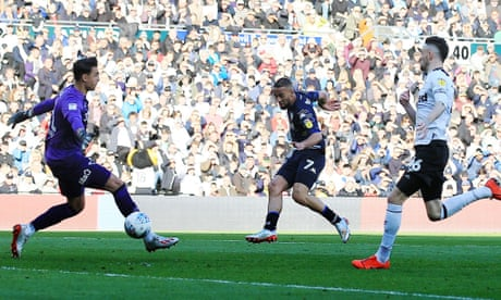 Kemar Roofe razes Derby County to leave Leeds spying play-off final