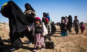 Isis fighters firing at escaping family members, says