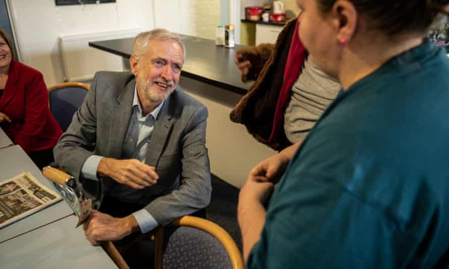 Labour leader Jeremy Corbyn bought a reconditioned garden fork at the Hope Centre.