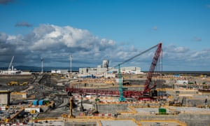Construction work at Hinkley Point C