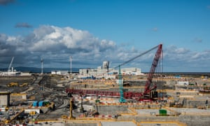 Construction work at Hinkley Point C in Somerset