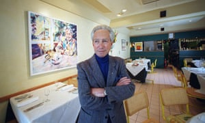 Don Dunstan in his cafe in Adelaide in 1997