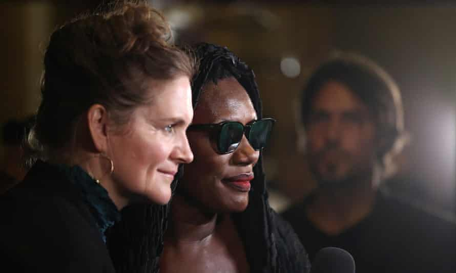 Saving Grace: director Sophie Fiennes and Jones at the world premiere of Bloodlight and Bami in Toronto, 2017.