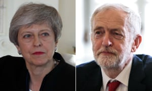 Theresa May and Jeremy Corbyn met on Tuesday evening.