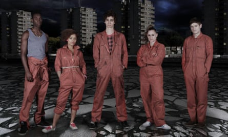 The cast of Misfits.
