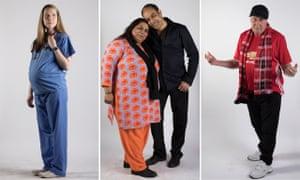 Manchester models: (left to right) Natalie Francis, Shabnam and Shakar Hussain and David Shanahan.