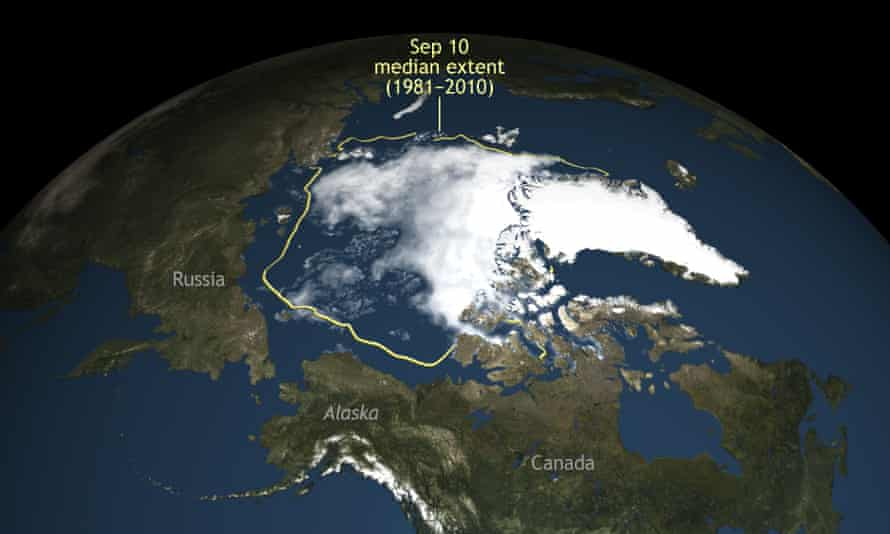 Arctic sea ice this summer shrank to its second lowest level since scientists started to monitor it by satellite