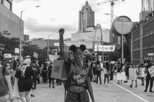 BLM protester in Atlanta, Georgia