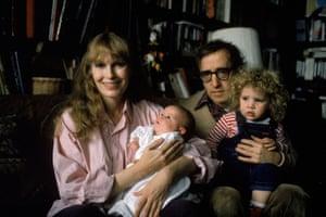 (From left) Mia Farrow, Satchel (now Ronan) Farrow, Allen and Dylan Farrow in 1988