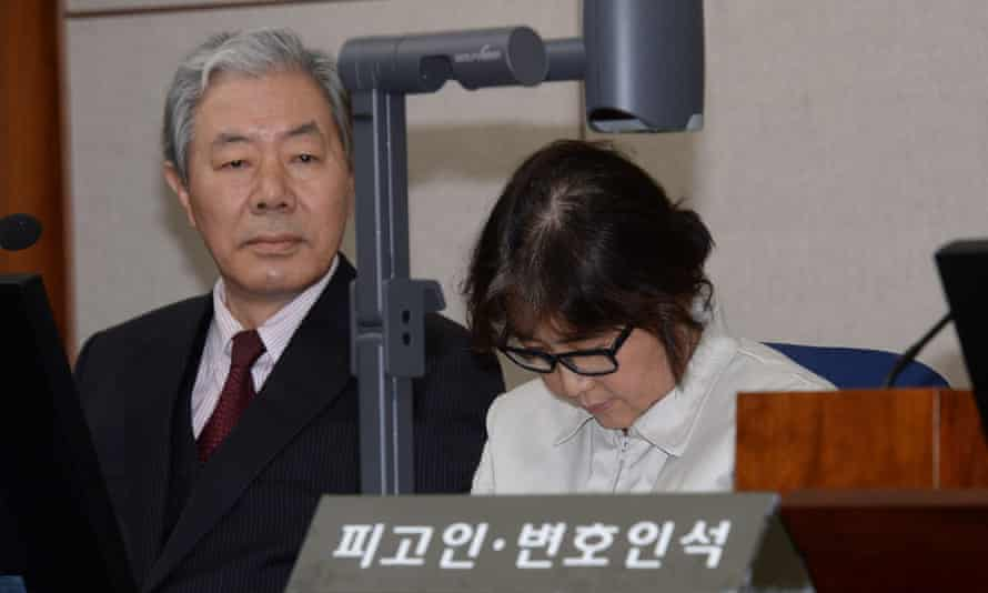 Choi Soon-sil appears in court