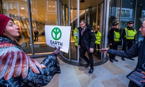 Extinction Rebellion protesters in London this month.
