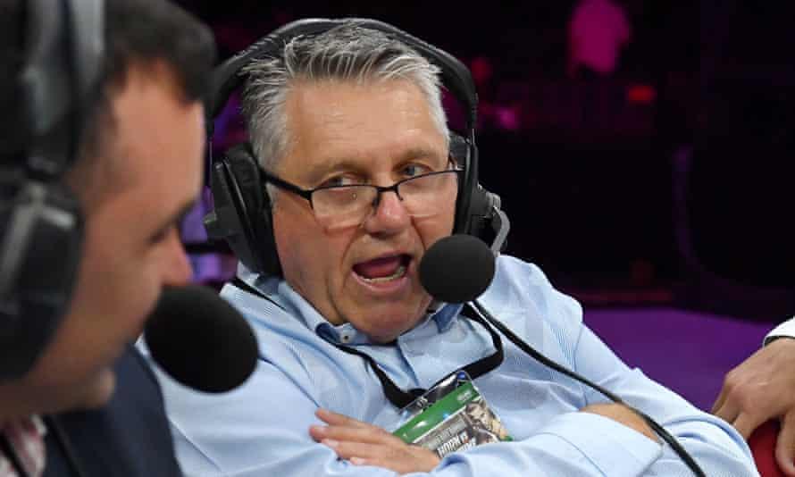 2GB radio host Ray Hadley at a sports broadcast.