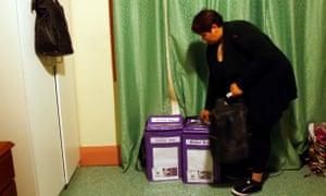 Australian Electoral Commission boxes
