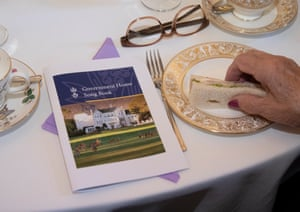 The Government House song book at the Legacy widows morning tea.
