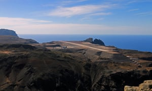 St Helena airport.