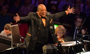 Visibly delighted … Quincy Jones acknowledges the applause during Prom 49 at the Royal Albert Hall, London.