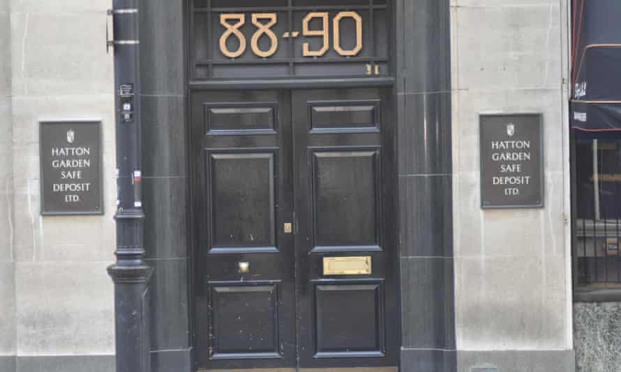 The entrance to Hatton Garden Safe Deposit Ltd in central London.