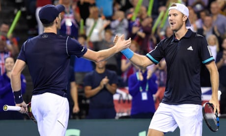 Jamie Murray and Dom Inglot take GB to verge of Davis Cup win over Uzbekistan