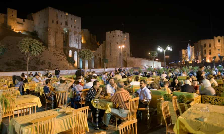 Outdoor cafes at the Citadel.