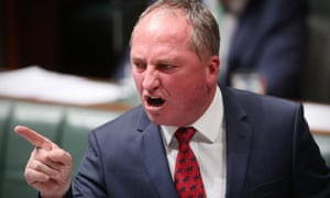 Barnaby Joyce in full flight during question time